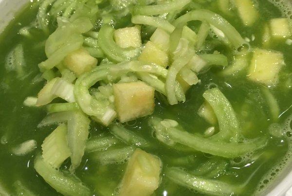 Cucumber Noodle Soup