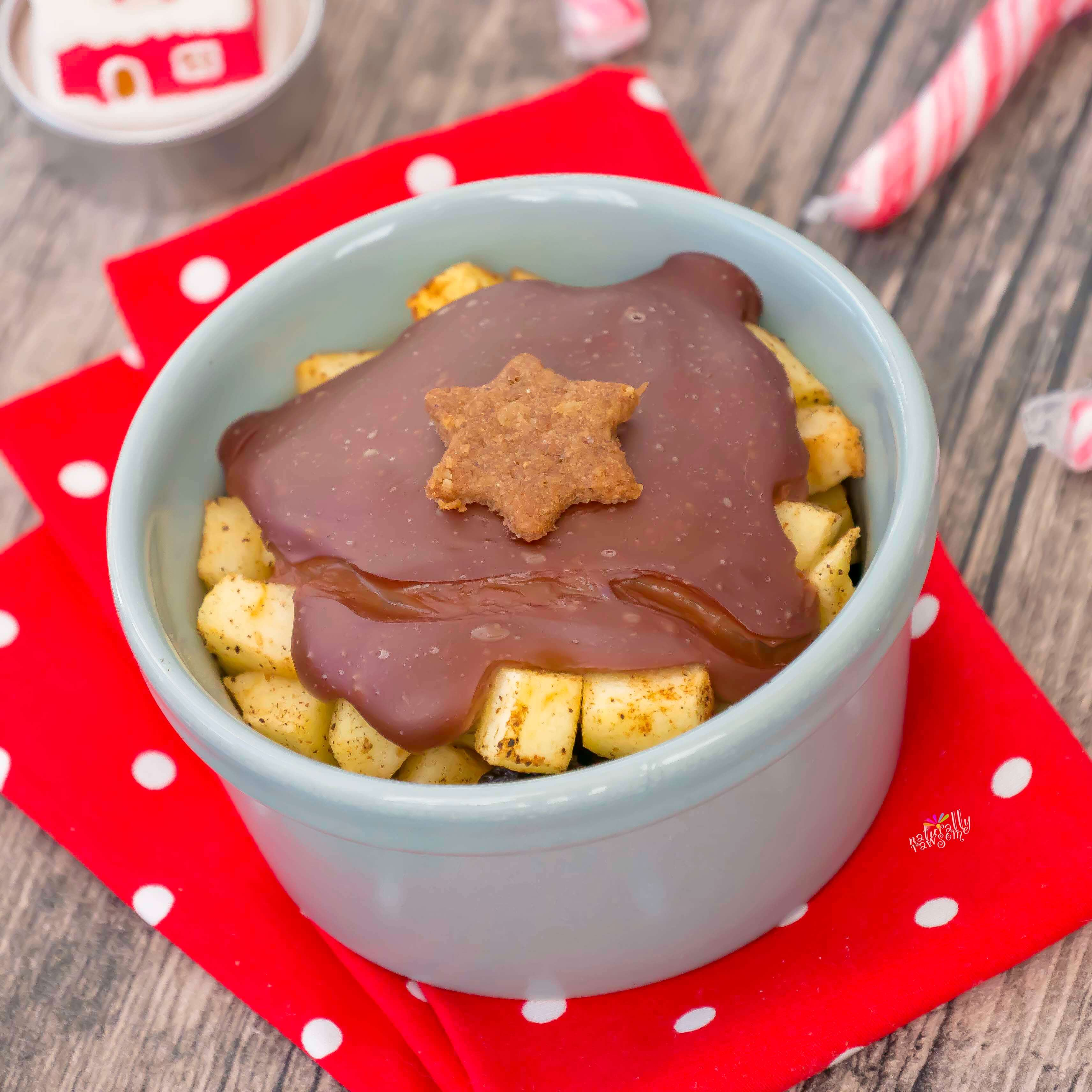 Baked Apple with Chocolate Pudding