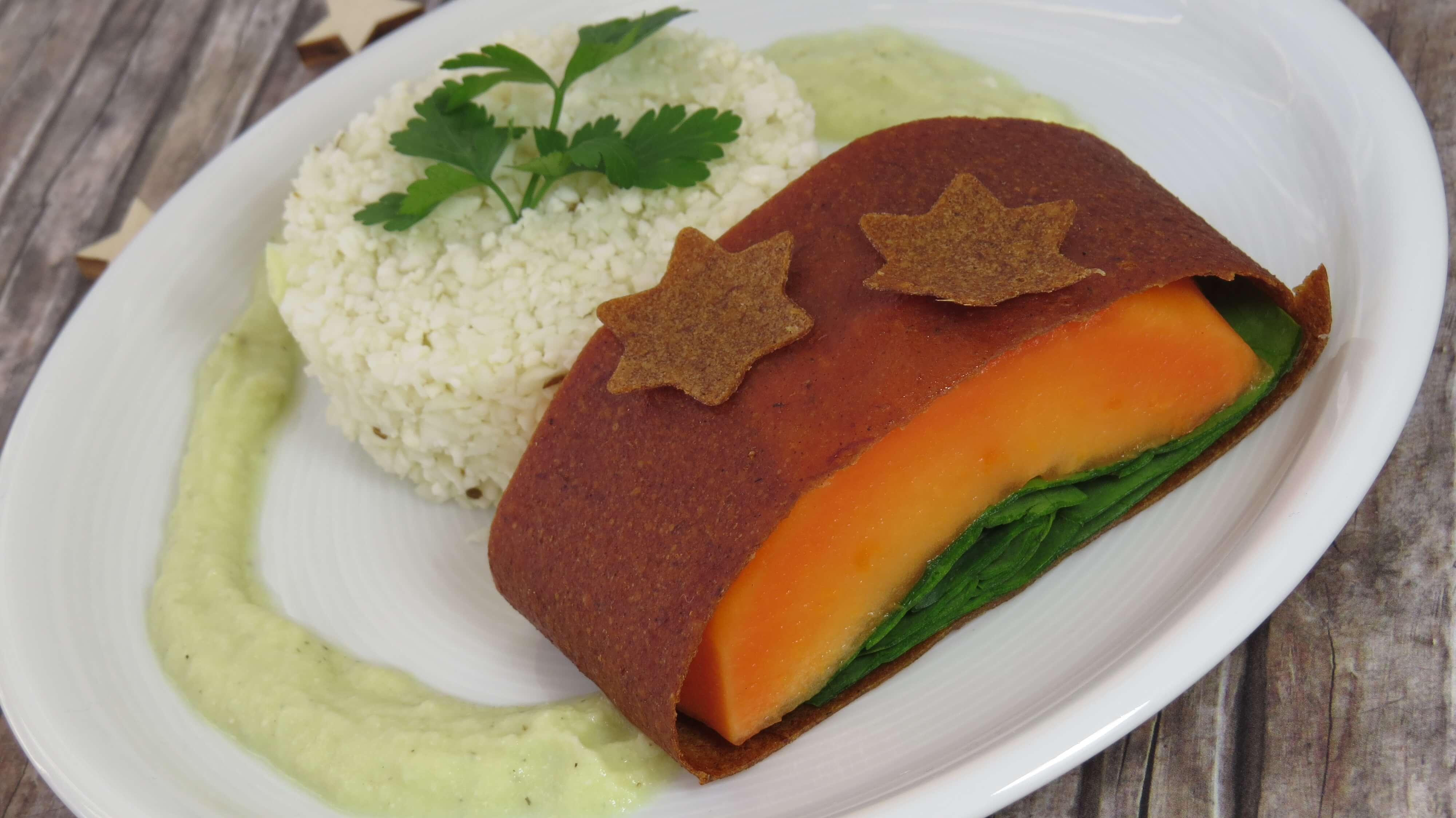 """""""Salmon"""" Wellington with Rice and Dill Sauce"""
